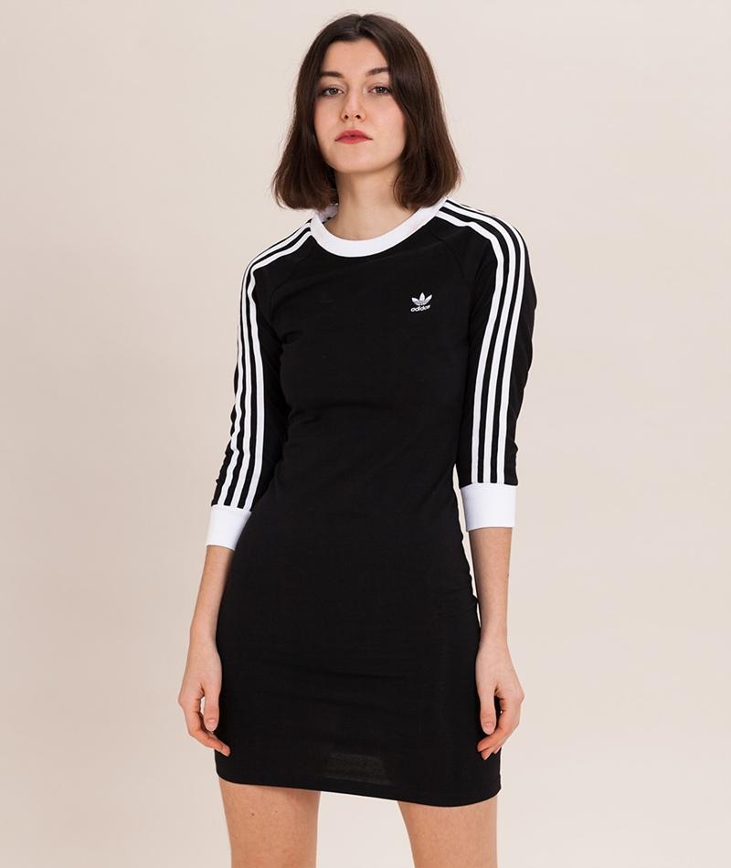 ADIDAS 3 Stripes Kleid black