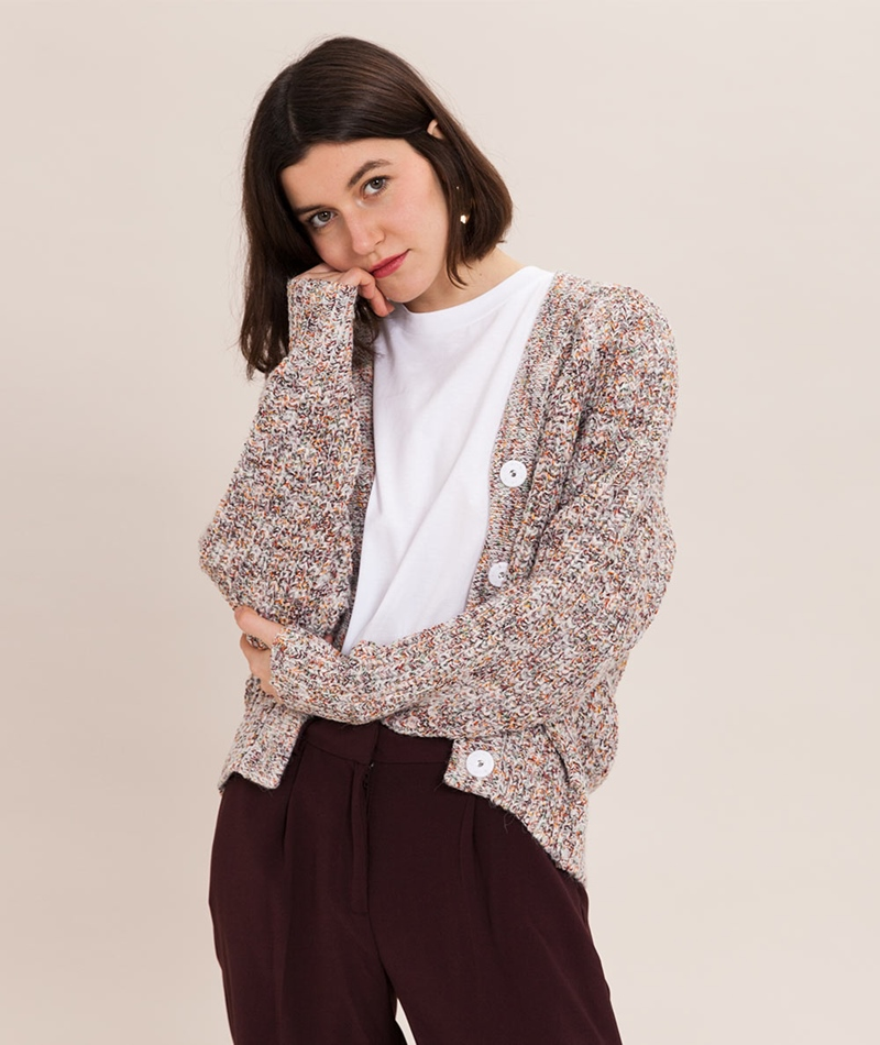 SECOND FEMALE Agnete Cardigan off white