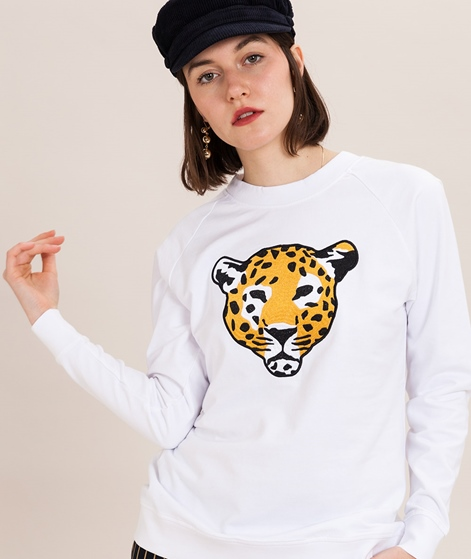 POP COPENHAGEN Embroidery Sweater white