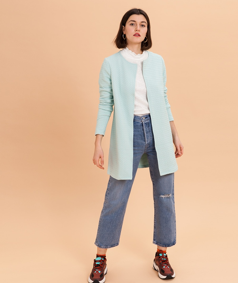 VILA Vinaja New Long Cardigan blue haze