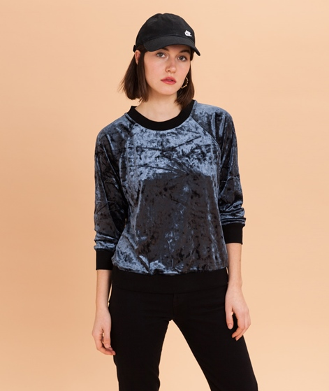 POP COPENHAGEN Plush Velvet Sweater blue