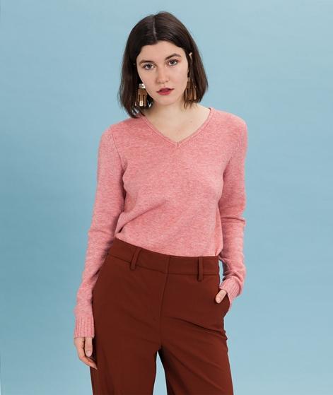 VILA Viril V-Neck Pullover brandied apri