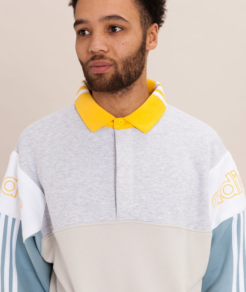 ADIDAS Rugby Pullover raw white/ash grey
