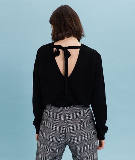 VILA Viril Open Back Pullover black