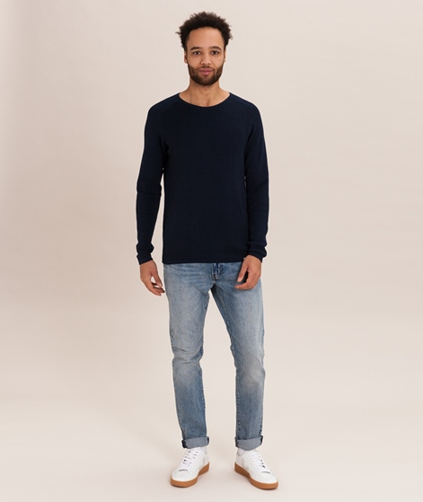 NOWADAYS Racked Stitch Pullover blue bla