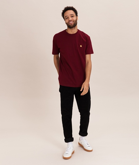 CARHARTT WIP Chase T-Shirt cranberry