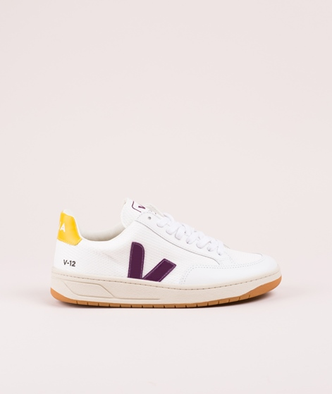VEJA V-12 Sneaker white berry gold-yellow