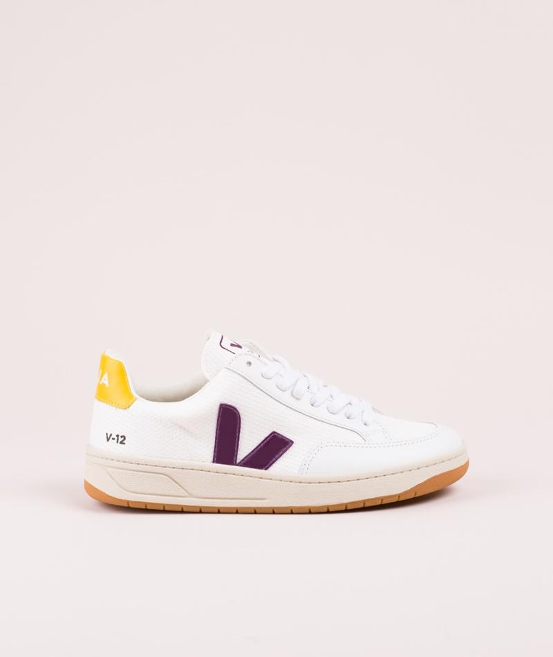 VEJA V-12 Sneaker white berry gold-yellow