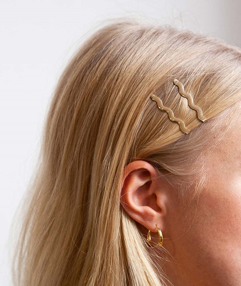 EBBA Wave Hair pins gold