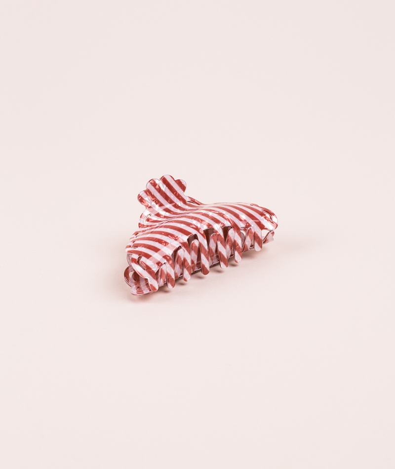 EBBA Striped Hairclip braun