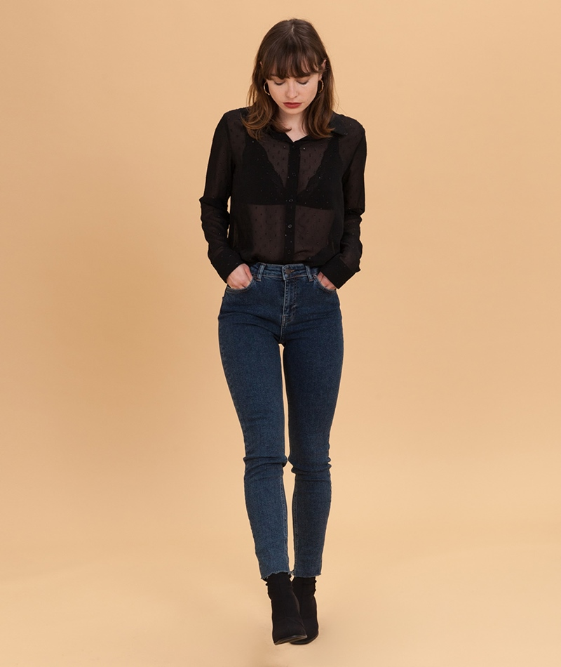 MOSS COPENHAGEN Pop Slim Jeans dark blue