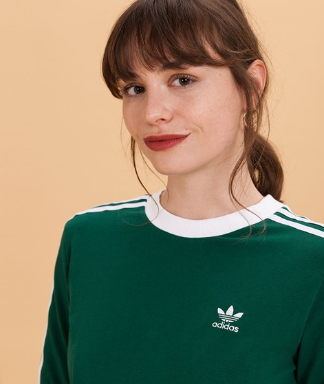 ADIDAS 3 Stripes Sweater collegiate gree