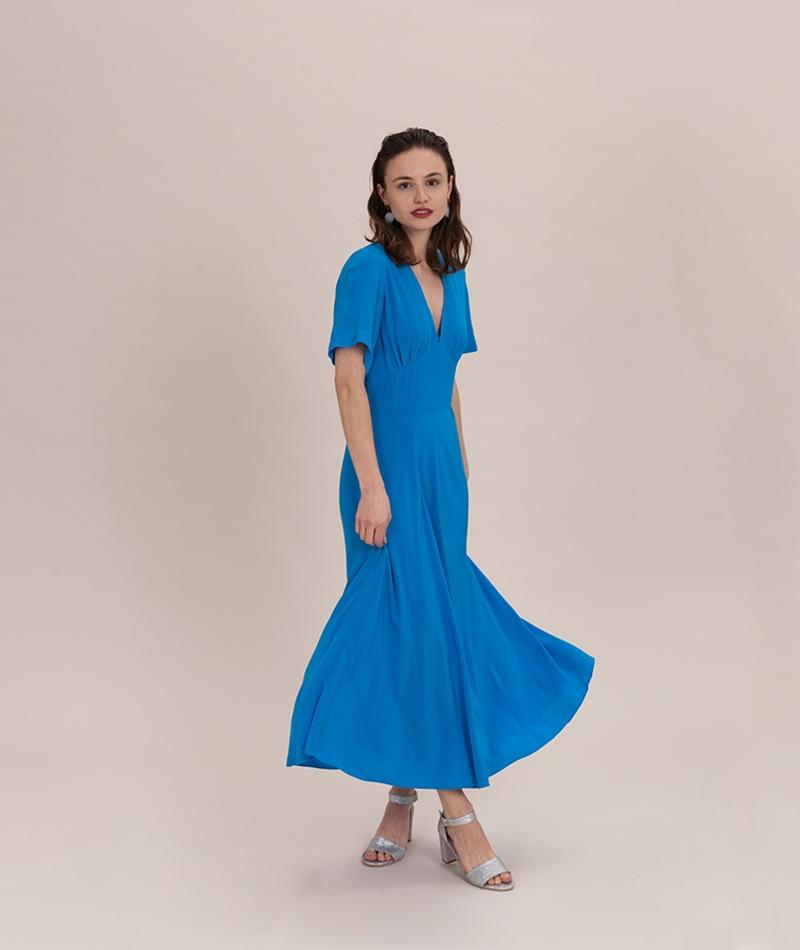 SAMSOE SAMSOE Cindy Kleid blue aster