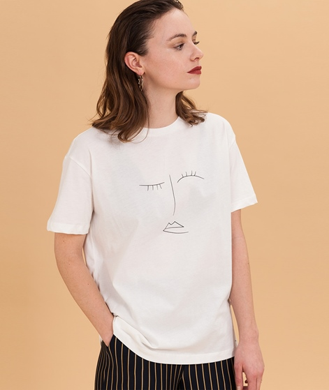 MOSS CPH Dida Print T-Shirt vanilla ice/