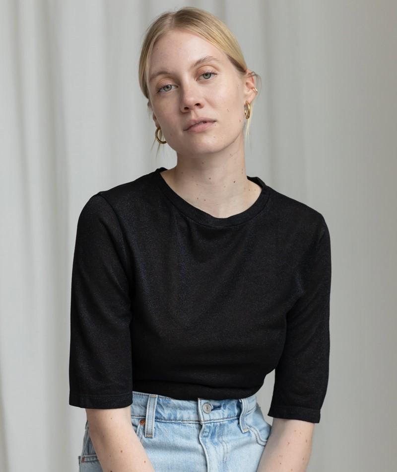 KAUF DICH GLUCKLICH Patricia T-Shirt black lurex