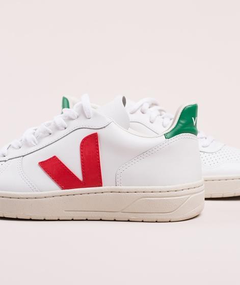 VEJA V-10 Sneaker extra white/pekin emerarld