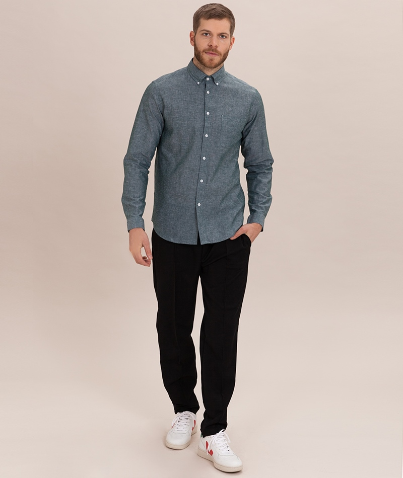 COUDRE BERLIN Button Down Hemd greenston