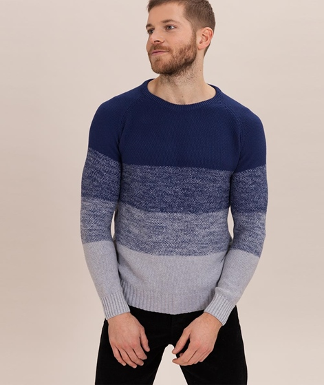 COUDRE BERLIN Gradient Pullover blue/grey