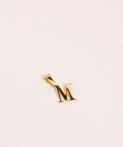 ANNA + NINA Initial Kette Charm Letter M