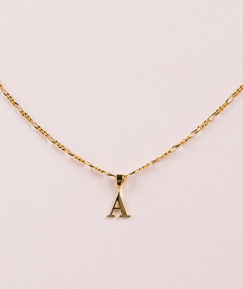 ANNA + NINA Initial Kette Charm Letter A