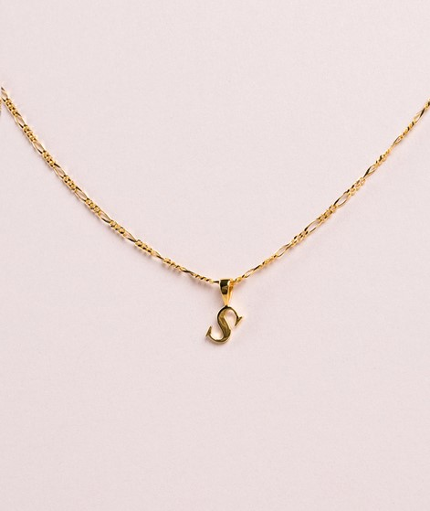 ANNA + NINA Initial Kette Charm Letter S