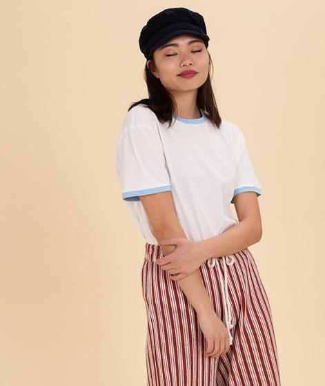 MOSS CPH Dida Contrast Rib T-Shirt vanil