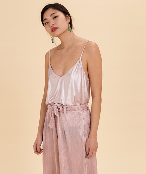 POP COPENHAGEN Disco Strap Top rose