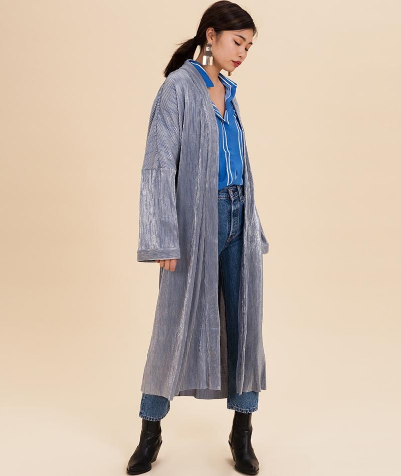 POP COPENHAGEN Rippled Party Kimono