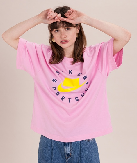 NIKE WNSW T-Shirt pink rise/opti yellow