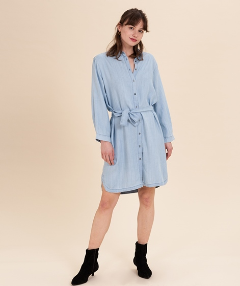 SECOND FEMALE Sophia Kleid light blue denim