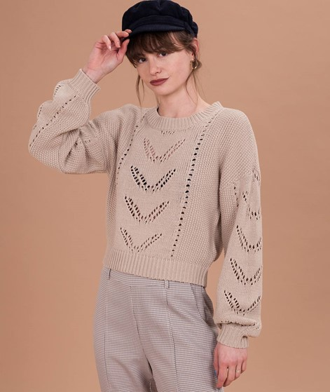VILA Vilively Pullover natural melange