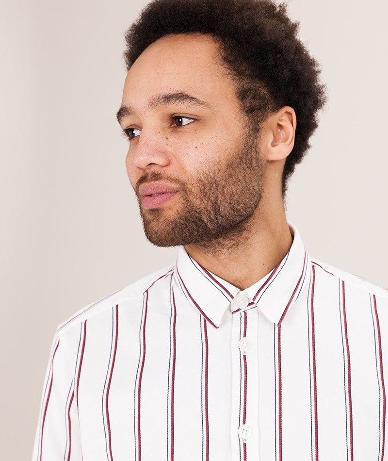 SAMSOE SAMSOE Liam NX Hemd white stripes