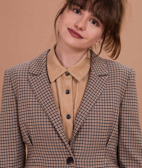 SELECTED FEMME Margery Blazer birch checked