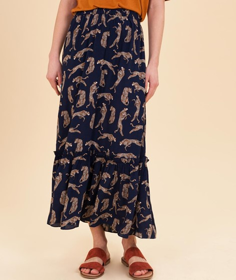 JUST FEMALE Welis Maxi Rock leopard aop