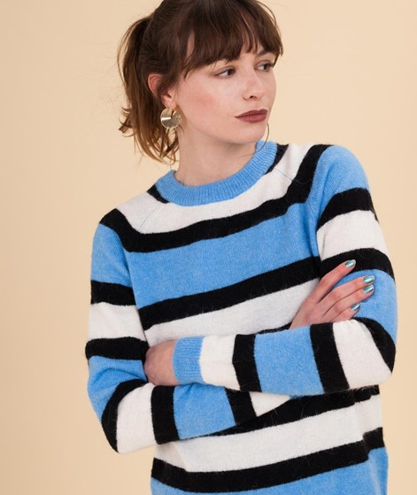 M BY M Ducan Ethel Stripe Pullover blue