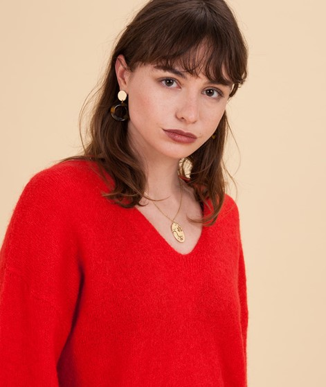 MOSS CPH Europe Mohair Pullover poppy re