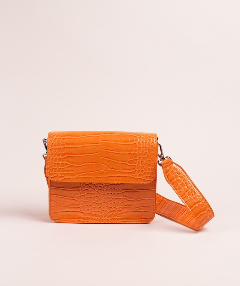 HVISK Cayman Shiny Strap Handtasche orange