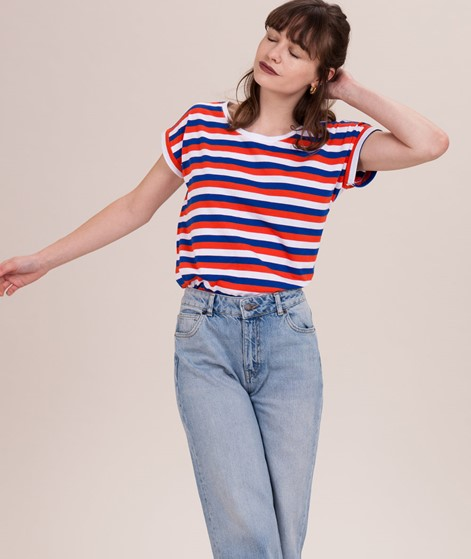 VILA Vidreamers Multi Stripe T-Shirt cherry, blue