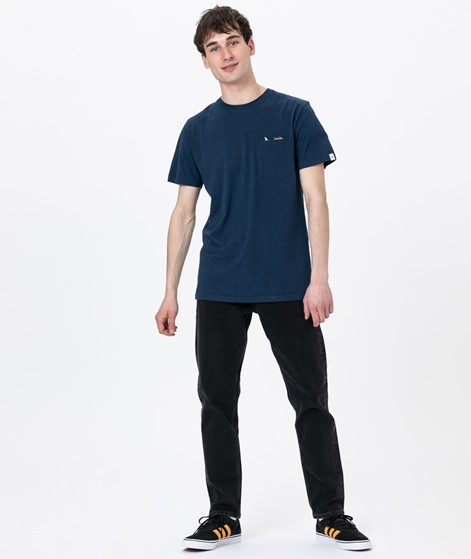 REVOLUTION Sverre Jaw T-Shirt navy-mel