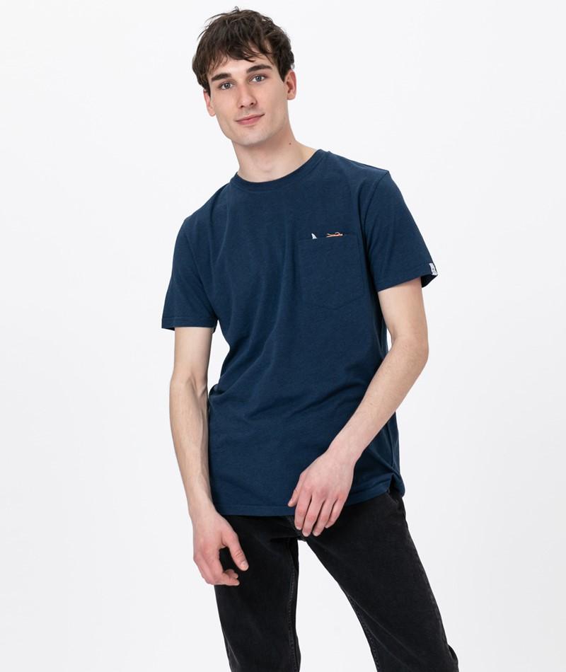 REVOLUTION Sverre Jaw T-Shirt dunkelblau
