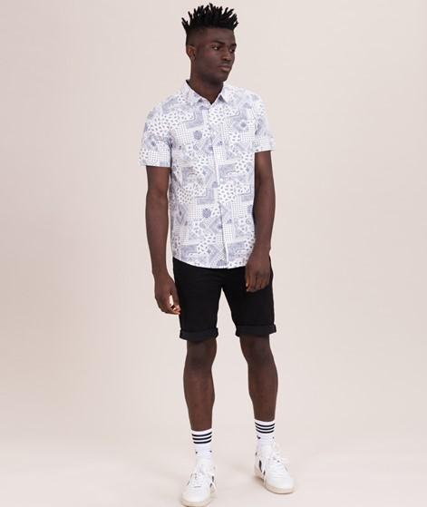 WEMOTO Paisley Hemd off white