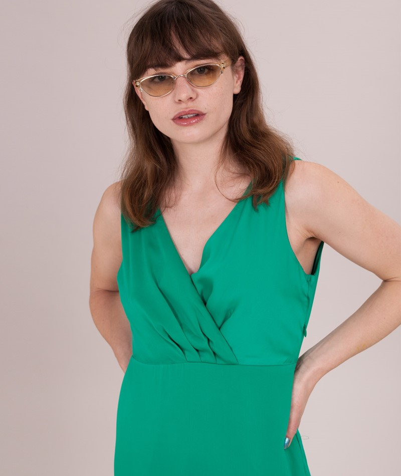 VILA Vifunda Maxi Kleid pepper green