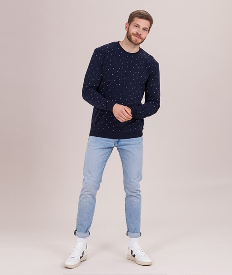 MINIMUM Campi Plane Aop Sweater navy bla