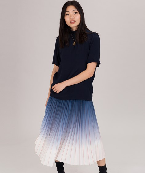 POP COPENHAGEN Ruffled Bluse navy