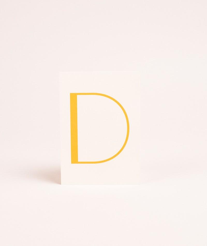 NANDA x KDG Initial Postkarte D