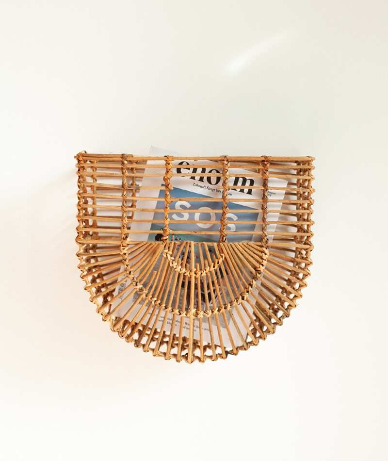 BLOOMINGVILLE Wall Basket Rattan