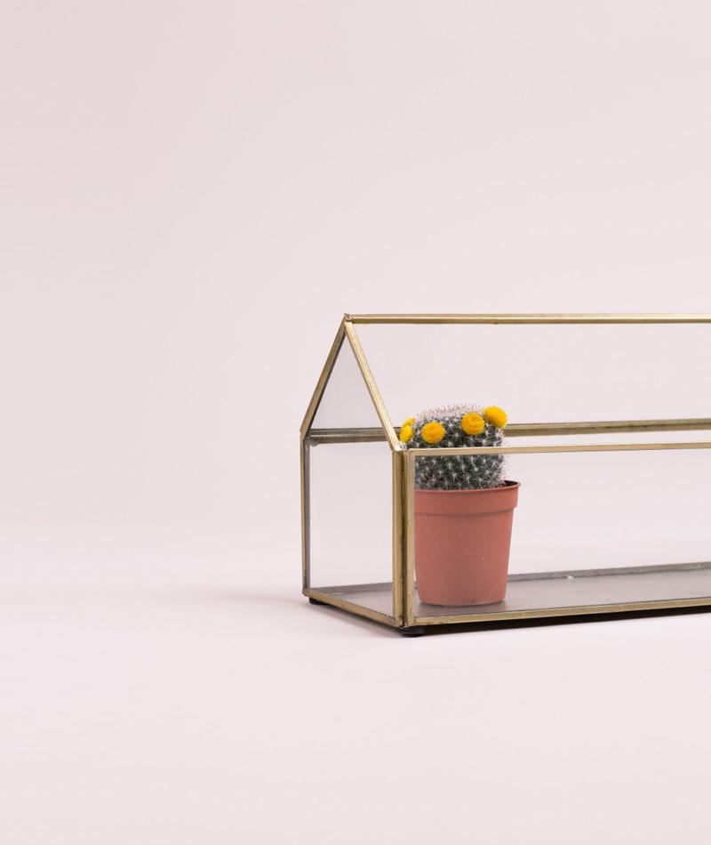 MADAM STOLTZ Terrarium clear glass