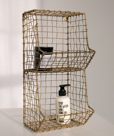 MADAM STOLTZ Wire Rack brass