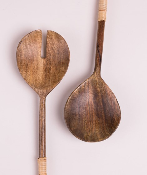 MADAM STOLTZ Salad Set mango wood