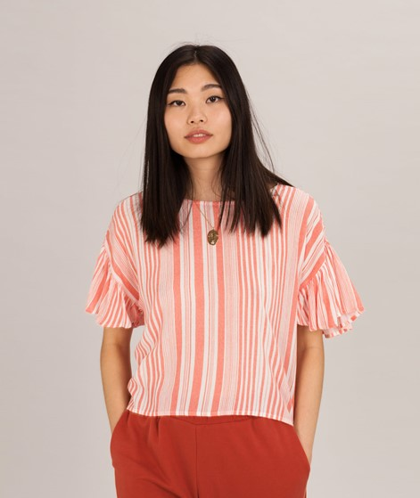 MINKPINK Ocean Side Stripe Bluse orange